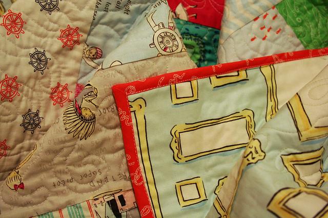 Everything Sarah Jane - backing and binding